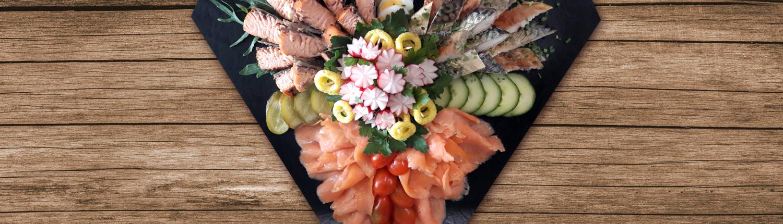 Gemischte Fisch- und Fleischplatte