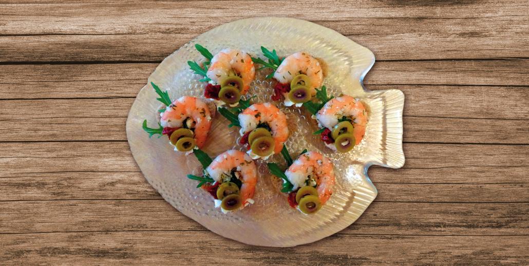 Cocktail-Häppchen mit Shrimps