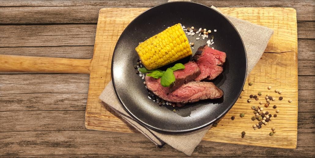 Serviervorschlag für Steak