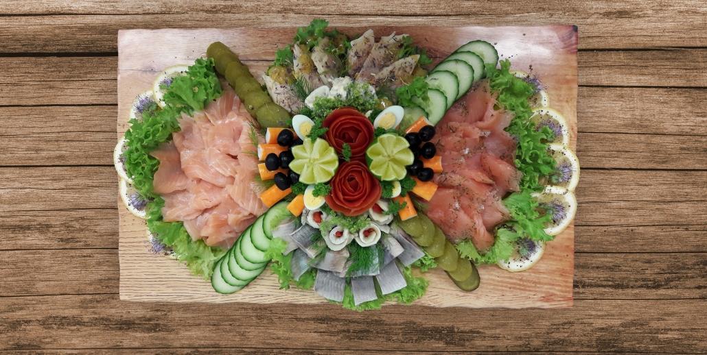 Dekorative Fischplatte